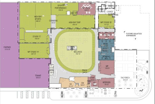 Plans for additions to the Dickson County Family YMCA.