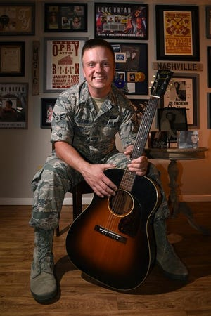 Former U.S. Air Force Senior Airman and singer/songwriter Jamie Teachenor will perform a free concert following the Dickson Veterans Day Parade on Sunday, Nov. 10.