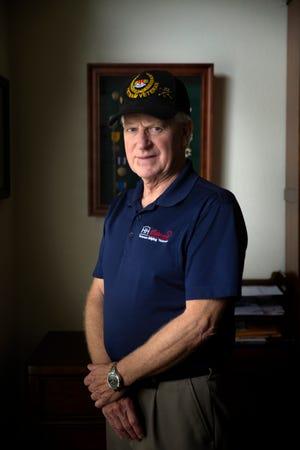 Vietnam veteran Gary Bonvillian poses for a portrait at his home, Monday, Nov. 4, 2019, in Estero.