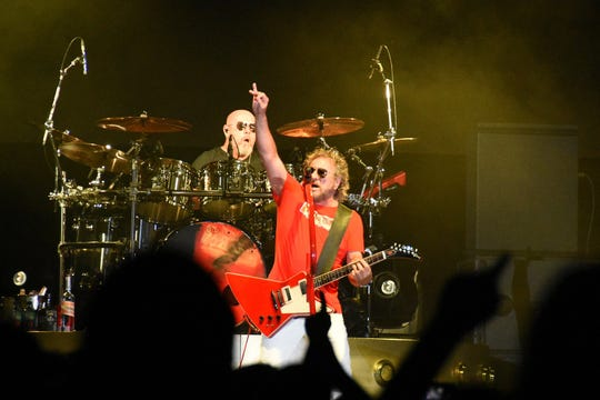 Hagar gets the crowd involved. Sammy Hagar and the Circle rocked Hertz Arena in Estero on Saturday night, playing a retrospective of the Red Rocker's long musical career.