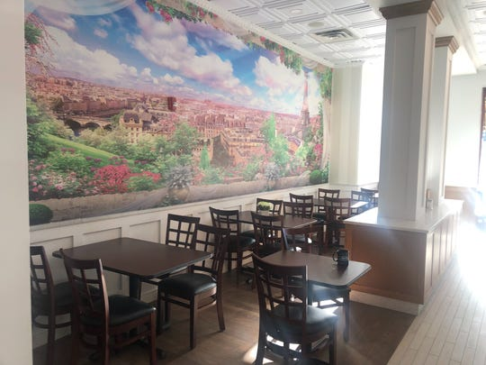 The cafe space at Cafe de Royal in Ridgewood