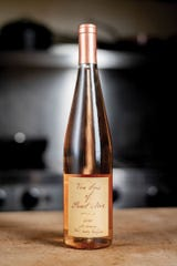 Robert Sinskey Vin Gris Of Pinot Noir is a rose that will go nicely with a turkey dinner.