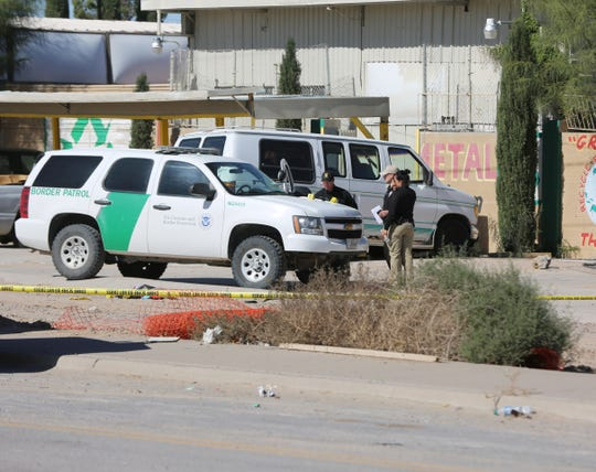 Multiple agencies investigate a shooting in Sunland Park, NM, in which one person died, after a Border Patrol agent shot him during an alleged early morning shootout, Monday Nov. 4, 2019.