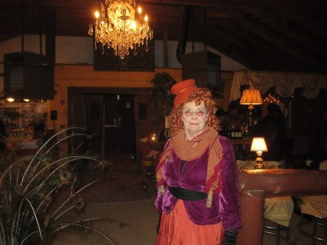This Carrizozo celebrant captured evoked a previous era and captured the atmosphere of Halloween.