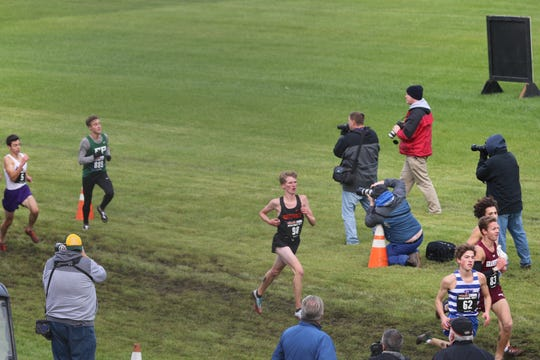 Josh Morrisey led Northville to a 19th place finish in the MHSAA Division 1 boys cross-country meet