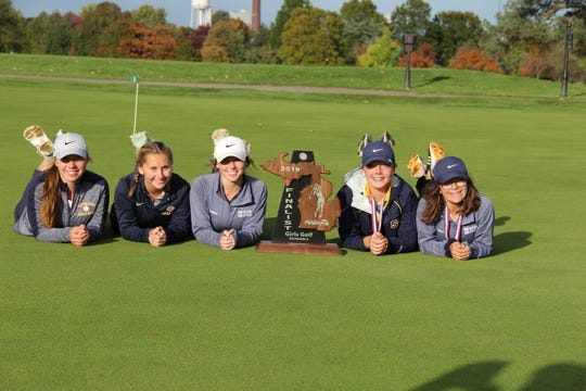 The South Lyon girls golf team finished second at the Division 2 state finals.