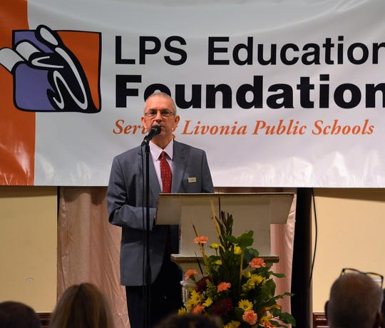 Bill Parlberg, President and COO of Zehnder's of Frankenmuth, was the keynote speaker at the luncheon.