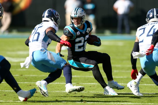 Carolina Panthers running back Christian McCaffrey is No. 2 in the NFL in rushing  and has caught 42 passes as well.