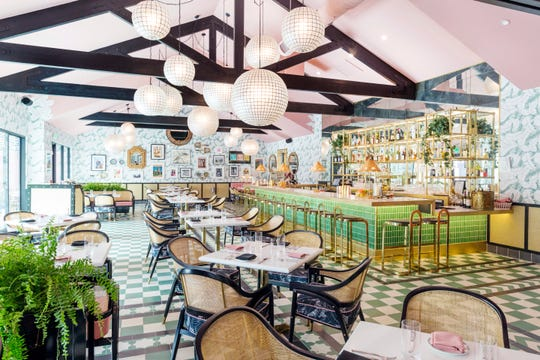 The Pink Cabana at Sands Hotel and Spa, designed by Martyn Lawrence Bullard, has new menu offerings for the 2019 fall season.