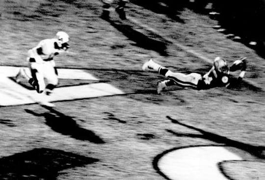 ASU wide receiver John Jefferson's famous touchdown catch against Arizona in the 1975 Territorial Cup.