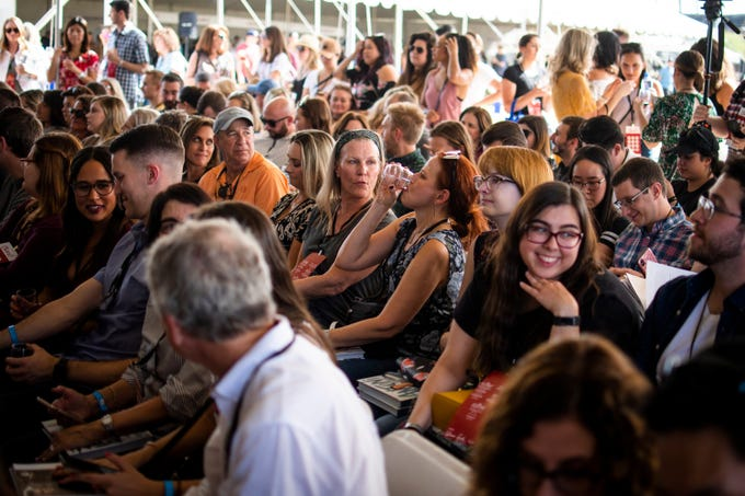 """Attendees wait at &quot;The Culinary Stage&quot; tent to watch Queer Eye&#39;s Antoni Porowski cook at the azcentral Wine and Food Experience near Scottsdale on Sunday, Nov. 3, 2019.&nbsp;<strong>azcentral WINE &amp; FOOD EXPERIENCE 2019: </strong><a href=""""https://www.azcentral.com/picture-gallery/entertainment/dining/2019/11/03/celebrities-and-chefs-2019-azcentral-wine-food-experiene/4087428002/"""" target=""""_blank"""">The celebrities and chefs of the event</a>&nbsp;<strong> </strong><a href=""""https://www.azcentral.com/story/entertainment/dining/dominic-armato/2019/11/02/best-things-dominic-armato-ate-azcentral-wine-food-experience/4139330002/"""" target=""""_blank"""">&nbsp;</a><a href=""""https://www.azcentral.com/story/entertainment/dining/dominic-armato/2019/11/02/best-things-dominic-armato-ate-azcentral-wine-food-experience/4139330002/"""">The best dishes our food critic ate</a>&nbsp;<strong> &nbsp;</strong><a href=""""https://www.azcentral.com/story/entertainment/dining/2019/11/04/2019-azcentral-wine-food-experience-things-we-learned/4087235002/"""">10 things we learned</a>"""