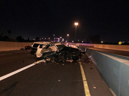 Tempe Police vehicle suffered severe damage in collision