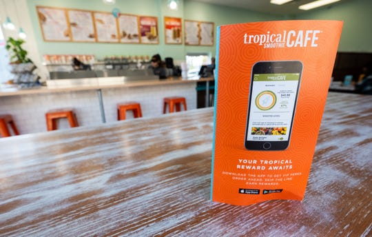 A mobile app and rewards program is available to customers at Tropical Smoothie Cafe in Port Huron.