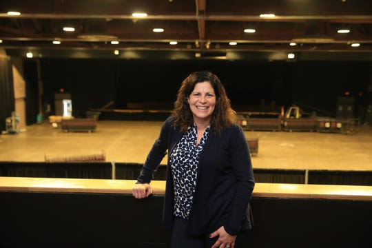 Mid-Hudson Civic Center president Danielle Anderson on the mezzanine of the Majed J. Nesheiwat Convention Center on November 1, 2019.
