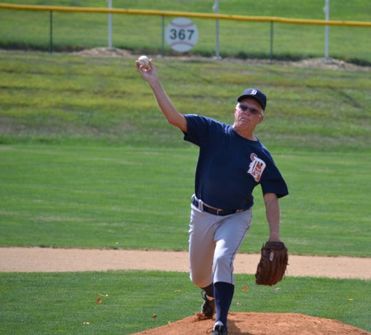 Steve Hoke, 73, is still pitching and was inducted into the York County Oldtimers Baseball League Hall of Fame this year. He is one of five original players from 1991 playing in the league.