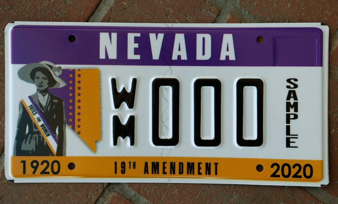 The Nevada Commission for Women has unveiled a new Nevada license plate honoring the 100-year anniversary of women's suffrage.