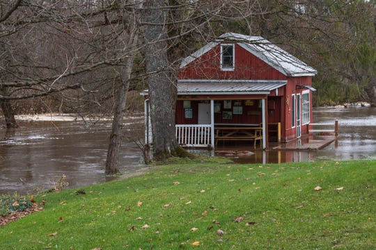 A home was washed away during flooding outside Salisbury in Herkimer County on Nov. 1, 2019