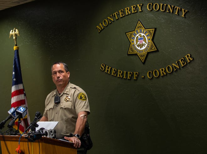 Cap. Joh Thornburg, spoke in a press conference to address the two suspects that escaped. This news conference was held at the Monterey County Sheriff's office in Salinas, Calif. on Monday, Nov. 04, 2019.