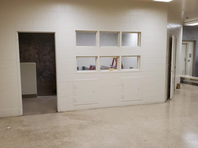 This photo shows the outside appearance of the bathroom in which Santos Fonseca and Jonathan Salazar escaped from the Monterey County Jail in the morning hours of Nov. 3, 2019. The sheriff's office said the hole was cut in a blindspot from cameras.
