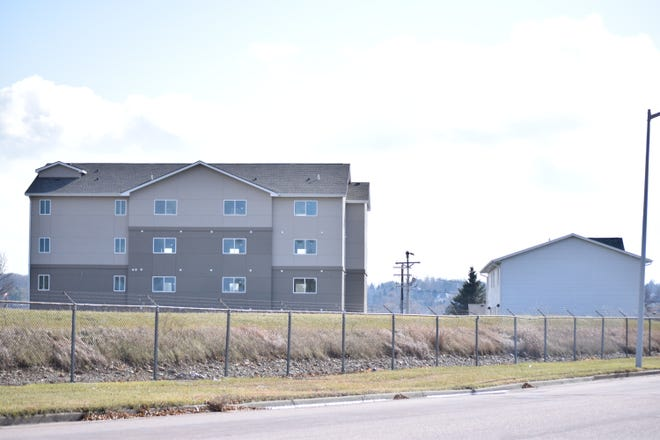 A 25-unit apartment building, the first phase of what's being called the Glory House Apartments, stands west of the nonprofit's Sands Freedom Center near 51st Street and West Avenue in southern Sioux Falls. Glory House plans to build at least 72 apartment units in the coming years.