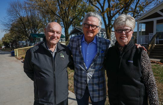 From left, David Brown, Ron, Hall, and Linda Brown at Eden Village on Monday, Nov. 4, 2019.