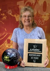 MaryAnn Davis was the best woman bowler in Mesquite last month, and credited a little morning pick-me-up as part of the reason why.