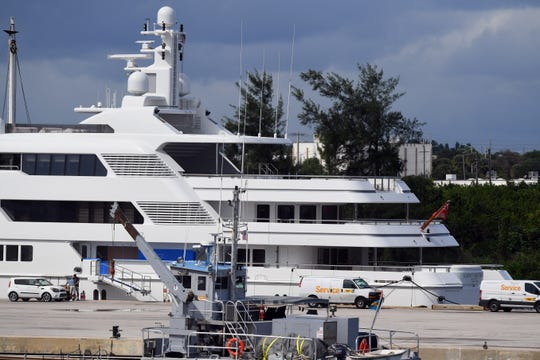 The Saint Nicolas, a 220-foot yacht, is docked at the Port of Fort Pierce at Derecktor Ft. Pierce. The yacht is the first mega-yacht to be docked at the port, helping the county bring jobs to the area.