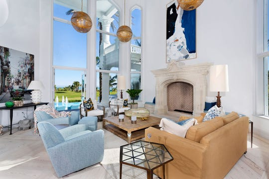 The 23,315-square-foot mansion at 2150 S. A1A in Vero Beach has six bedrooms, 10 bathrooms and 205 feet of oceanfront.
