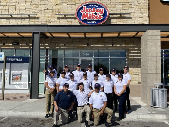The staff of Jersey Mike's is gearing up for their grand opening Wednesday at West Towne Marketplace.