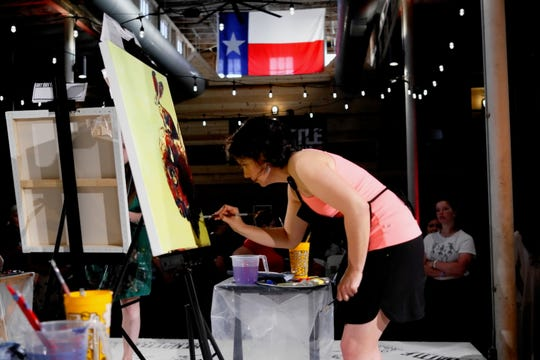 Previous champion Jesse Baggett will return to Art Battle Wichita Falls III from 6 to 9 p.m. Saturday at The Warehouse. Doors open at 5 p.m.
