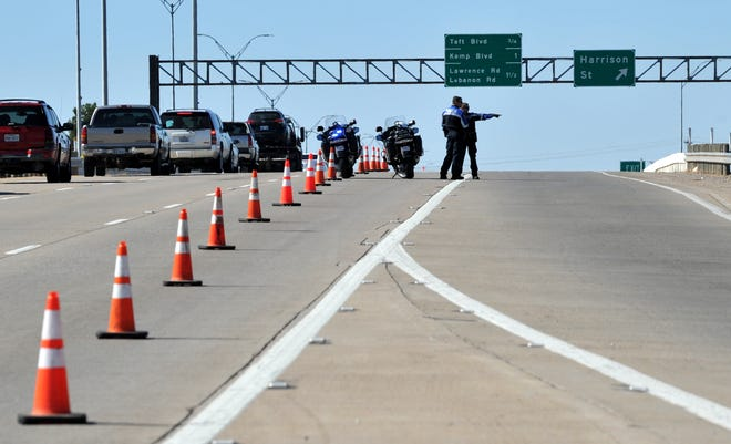 Wichita Falls police close parts of Kell Freeway westbound, Monday morning to continue an investigation into late September fatal accident