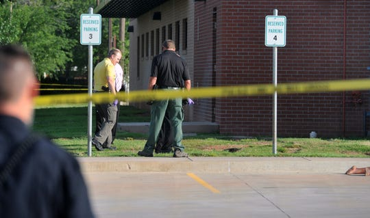 Wichita Falls police investigate a homicide in Wichita Falls as shown in this June 16, 2016, file photo. The deceased was identified as Helen Lashawn Darlene Fletcher.