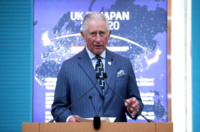 Prince Charles at a reception to celebrate UK - Japan partnerships at the British Ambassador's Residence on Oct. 23, 2019 in Tokyo.