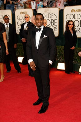 Diddy arrives at the 66th annual Golden Globe Awards on Jan. 11, 2009 in Beverly Hills, Calif.