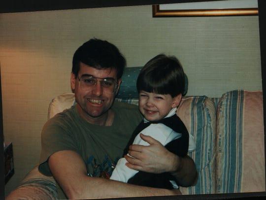 David Trone with his nephew Ian Jacob Trone in Murrysville, Pennsylvania, in 1995.