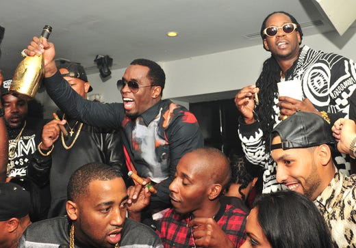Diddy and 2 Chainz attend the BET Hip Hop Awards 2013 afterparty on Sept. 28, 2013 in Atlanta.