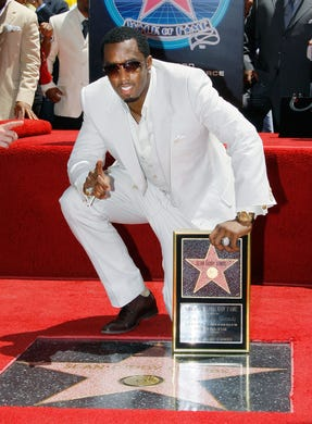 Diddy received his star on the Hollywood Walk of Fame on May 2, 2008 in Hollywood, Calif.