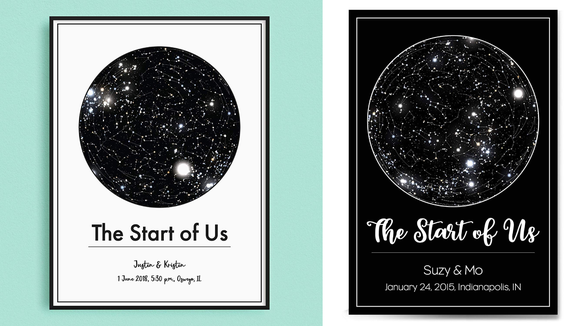 Best gifts for couples of 2019: Customized Star Map