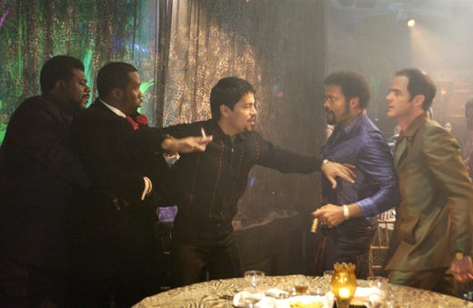 """Sean """"Diddy"""" Combs starred in the 2005 motion picture """"Carlito's Way: Rise To Power"""" with Stu """"Large"""" Riley,Jay Hernandez, Maro Van Peebles and Michael Kelly."""