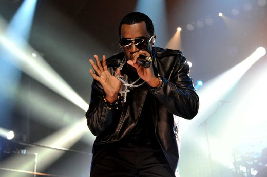 """Diddy performed during """"MTV Crashes Glasgow,"""" headlined by Diddy-Dirty Money at The Old Fruit Market on Sept. 29, 2010 in Glasgow, Scotland."""
