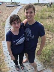 Christine Mancuso and Nick Crawford in an undated photo on Plum Island, Massachusetts.