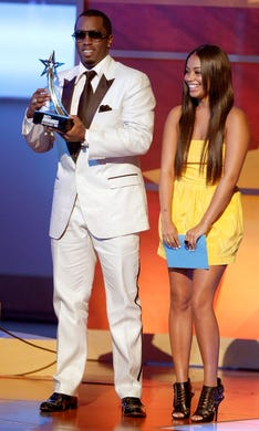 The entrepreneur and Lauren London presented during the 2008 BET Awards on June 24, 2008 in Los Angeles.