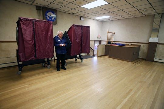 Alan Sobocinski of Freehold Boro, a poll judge, waits for voters on Election Day at the Freehold Elks in Freehold, NJ Tuesday, November 5, 2019.
