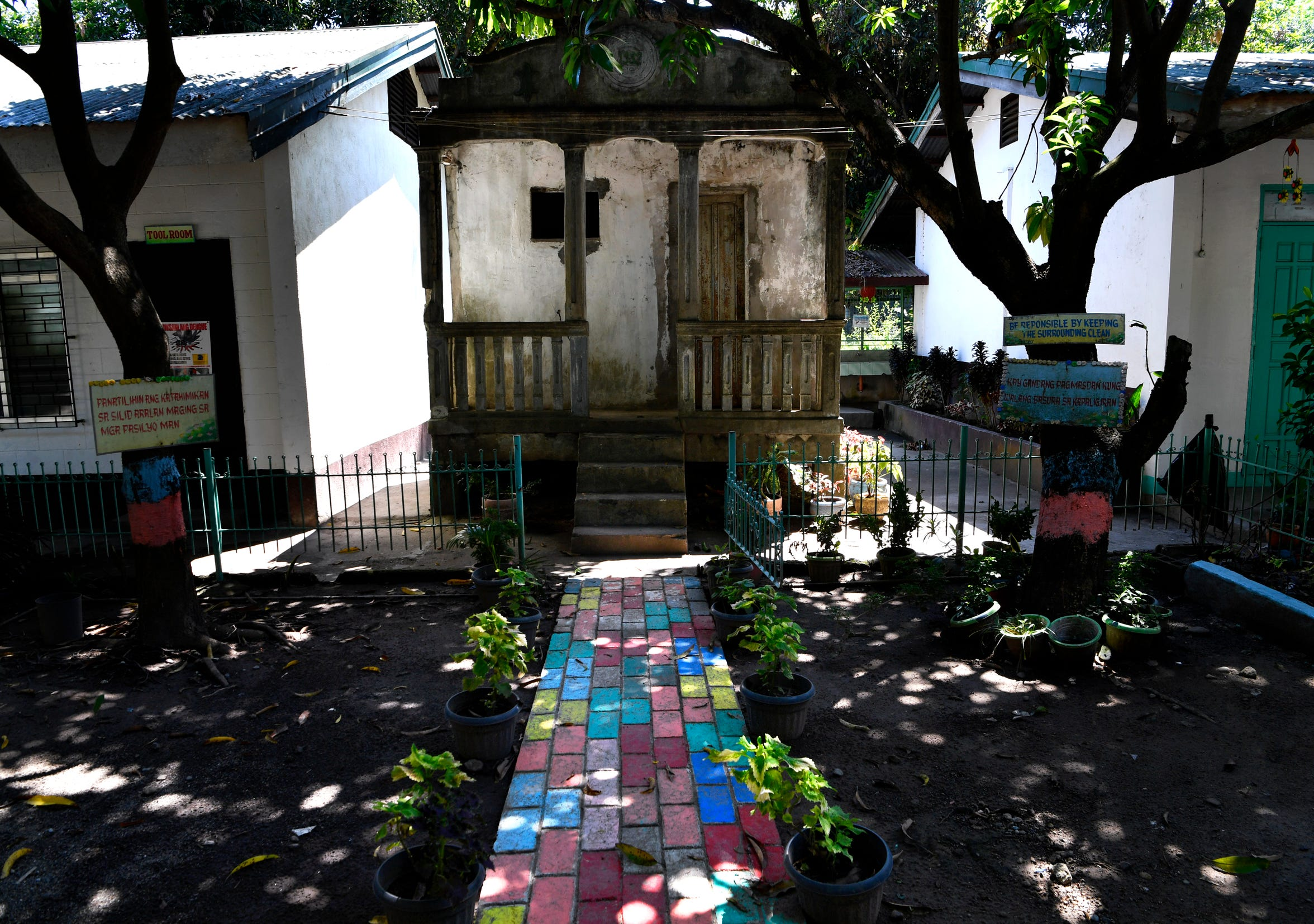 "The former ""comfort room"", or lavatory, at Balanga Elementary School in Bataan, Philippines Oct. 22, 2019. The building was was turned into an interrogation chamber by the Japanese during their occupation of Bataan in the Philippines, it remains out of service but serves as a reminder of what happened there."