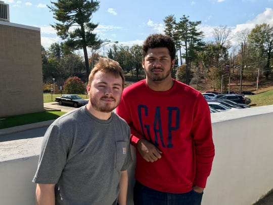 A-B Tech students Trey Wilson, 18, and Sam Desrocher, 21, share their thoughts on student IDs and voting.