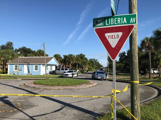 The body of a man was found at Liberia Avenue and Henry Street  in Palm Bay Nov. 5, 2019. Three bodies were found the same morning.