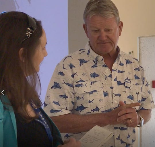 Caller-Times archivist and columnist Allison Ehrlich interviews conservationist and artist Dr. Guy Harvey in May 2019.
