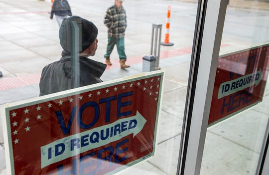 The Kenton County Library was one of the voting precincts in Covington on Tuesday, November 5, 2019. Kentucky has a nationally-watched race for governor.