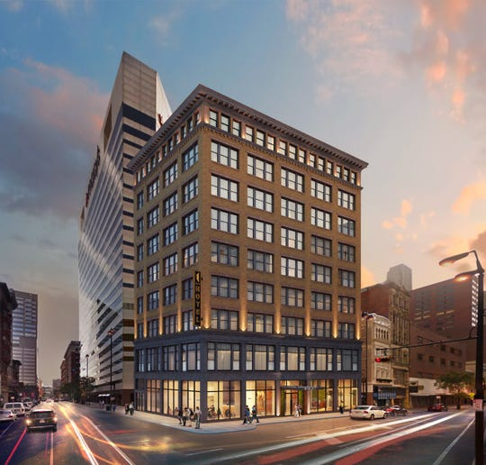 A rendering of the Kinley Hotel, with a new restaurant from Edward lee on the ground floor.