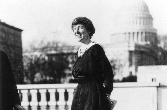 Congresswoman Jeannette Rankin, 1918.